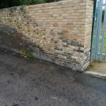 Brick Wall Repair Completed #2